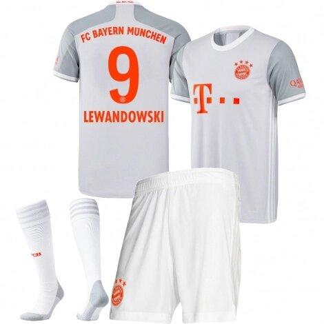 Бавария Мюнхен детская гостевая форма сезон 2020-2021 Левандовски 9 (футболка + шорты + гетры)